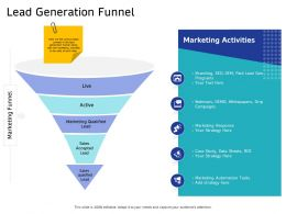 Lead Generation Funnel Strategy Here Ppt Powerpoint Presentation Outline Images