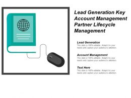 Lead Generation Key Account Management Partner Lifecycle Management