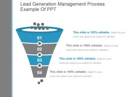 Lead Generation Management Process Example Of Ppt