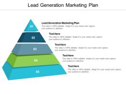 Lead Generation Marketing Plan Ppt Powerpoint Presentation File Images Cpb