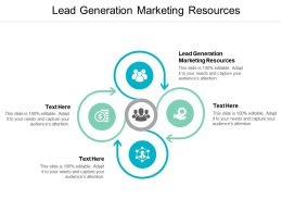 Lead Generation Marketing Resources Ppt Powerpoint Presentation Gallery Graphics Design Cpb
