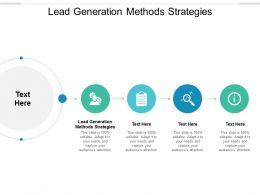 Lead Generation Methods Strategies Ppt Powerpoint Presentation Icon Cpb
