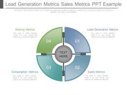 Lead Generation Metrics Sales Metrics Ppt Example