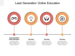 Lead Generation Online Education Ppt Powerpoint Presentation Example File Cpb