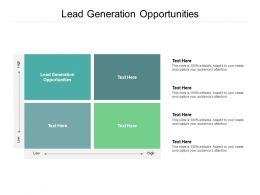 Lead Generation Opportunities Ppt Powerpoint Presentation Icon Background Image Cpb