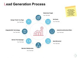 Lead Generation Process Determine Target Ppt Powerpoint Presentation Example