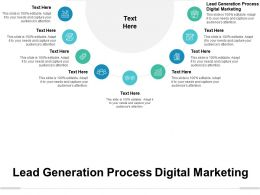 Lead Generation Process Digital Marketing Ppt Powerpoint Presentation Gallery Background Cpb