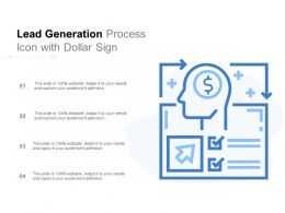 Lead Generation Process Icon With Dollar Sign