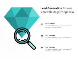 Lead Generation Process Icon With Magnifying Glass