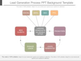 Lead Generation Process Ppt Background Template