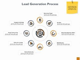 Lead Generation Process Ppt Powerpoint Presentation Outline Diagrams