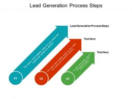 Lead Generation Process Steps Ppt Powerpoint Presentation Styles Rules Cpb