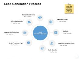 Lead Generation Process Technology Ppt Powerpoint Presentation Icon Topics