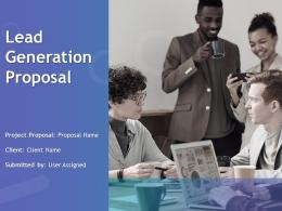 Lead Generation Proposal Powerpoint Presentation Slides