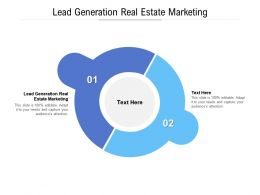 Lead Generation Real Estate Marketing Ppt Powerpoint Presentation Outline Aids Cpb