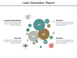 Lead Generation Report Ppt Powerpoint Presentation Pictures Background Images Cpb