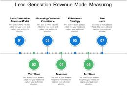 Lead Generation Revenue Model Measuring Customer Experience E Business Strategy Cpb