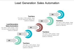 Lead Generation Sales Automation Ppt Powerpoint Presentation Model Slides Cpb