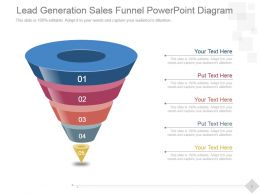 Lead Generation Sales Funnel Powerpoint Diagram