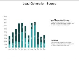 Lead Generation Source Ppt Powerpoint Presentation Outline Design Ideas Cpb