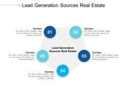 Lead Generation Sources Real Estate Ppt Powerpoint Presentation Outline Show Cpb