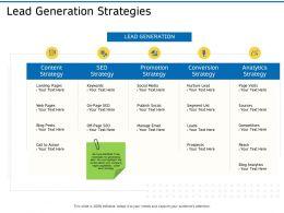 Lead Generation Strategies Ppt Powerpoint Presentation Ideas Objects