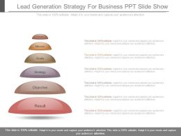 Lead Generation Strategy For Business Ppt Slide Show