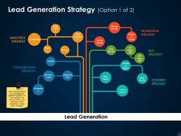 Lead Generation Strategy Ppt Icon Influencers