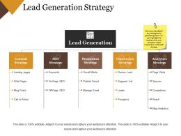 Lead Generation Strategy Ppt Infographic Template