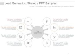 Lead Generation Strategy Ppt Samples