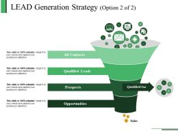 Lead Generation Strategy Template Ppt Sample Presentations