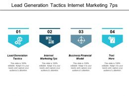 Lead Generation Tactics Internet Marketing 7ps Business Financial Model Cpb