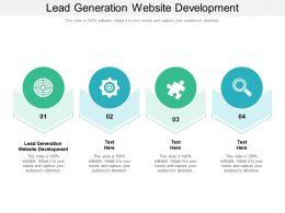 Lead Generation Website Development Ppt Powerpoint Presentation Slides Ideas