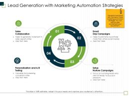 Lead Generation With Marketing Automation Strategies Her Ppt Powerpoint Presentation Pictures Sample