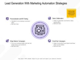 Lead Generation With Marketing Automation Strategies More Ppt Powerpoint Presentation Example