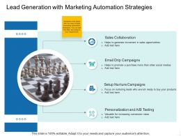 Lead Generation With Marketing Automation Strategies Ppt Image