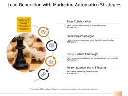 Lead Generation With Marketing Automation Strategies Ppt Model Summary