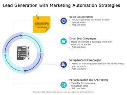 Lead Generation With Marketing Automation Strategies Than Ppt Powerpoint Presentation Gallery