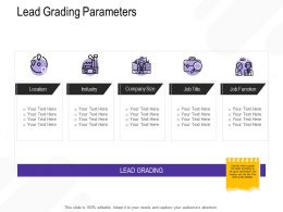 Lead Grading Parameters Company Size Ppt Powerpoint Presentation Model Templates