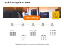 Lead Grading Parameters Industry Ppt Powerpoint Infographic Template