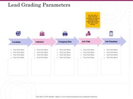 Lead Grading Parameters Industry Ppt Powerpoint Presentation Icon Example