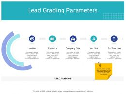 Lead Grading Parameters Industry Ppt Powerpoint Presentation Pictures Designs