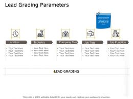 Lead Grading Parameters Industry Ppt Powerpoint Presentation Professional Layout