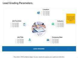 Lead Grading Parameters Ppt Powerpoint Presentation Icon Design Templates