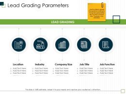 Lead Grading Parameters Size M2981 Ppt Powerpoint Presentation Ideas Slides
