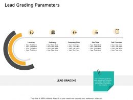 Lead Grading Parameters Title Ppt Powerpoint Presentation Model Infographic Template