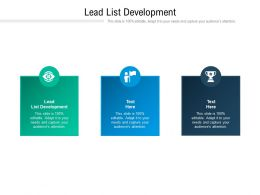Lead List Development Ppt Powerpoint Presentation Professional Topics Cpb