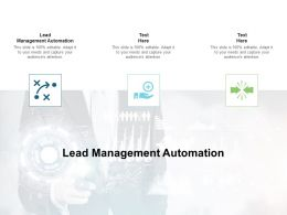 Lead Management Automation Ppt Powerpoint Presentation Inspiration Grid Cpb