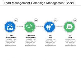 Lead Management Campaign Management Social Media Preference Engine