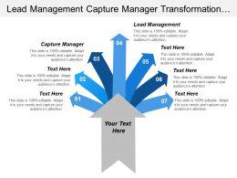 Lead Management Capture Manager Transformation Goal Sales Infrastructure